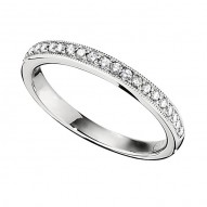 Wedding Band featuring 23 Round Brilliant Diamonds with 0.17ctw in White Gold