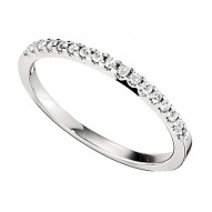 Wedding Band featuring 17 Round Brilliant Diamonds with 0.15ctw in White Gold