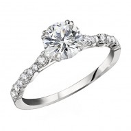 Engagement Ring featuring 16 Round Brilliant Diamonds with 0.20ctw in White Gold