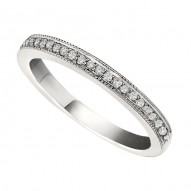 Wedding Band featuring 19 Round Brilliant Diamonds with 0.15ctw in White Gold