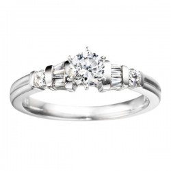 0.17ct Diamonds Engagement Ring in 14K White Gold