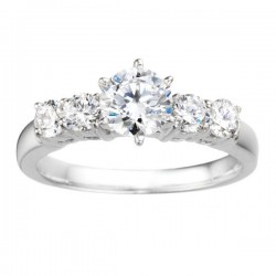 0.60ct Round Diamond Engagement Ring in 14K White Gold