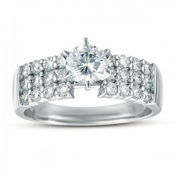 0.96ct Round Diamond Remount Ring in 14K White Gold