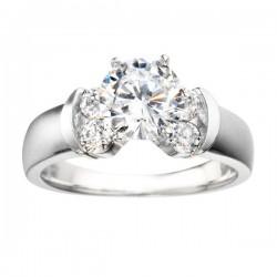 0.74ct Round Diamond Remount Ring in 14K White Gold
