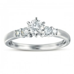 0.50ct Round Diamond Remount Ring in 14K White Gold