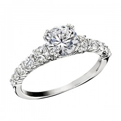 Engagement Ring featuring 10 Round Brilliant Diamonds with 0.68ctw in White Gold