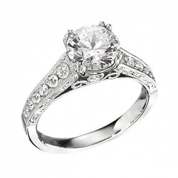 Engagement Ring featuring 16 Round Brilliant Diamonds with 0.29ctw in White Gold