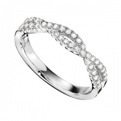 Wedding Band featuring 36 Round Brilliant Diamonds with 0.31ctw in White Gold