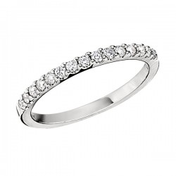 Wedding Band featuring 15 Round Brilliant Diamonds with 0.27ctw in White Gold