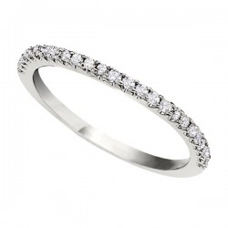 Wedding Band featuring 25 Round Brilliant Diamonds with 0.22ctw in White Gold