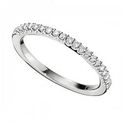 Wedding Band featuring 19 Round Brilliant Diamonds with 0.17ctw in White Gold