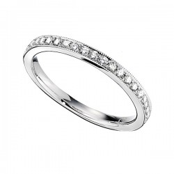 Wedding Band featuring 20 Round Brilliant Diamonds with 0.18ctw in White Gold