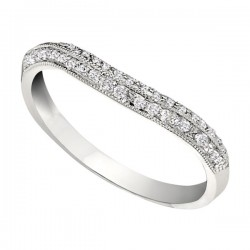 Wedding Band featuring 51 Round Brilliant Diamonds with 0.26ctw in White Gold