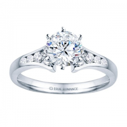 0.50ct Round Diamond Engagement Ring in 14K White Gold