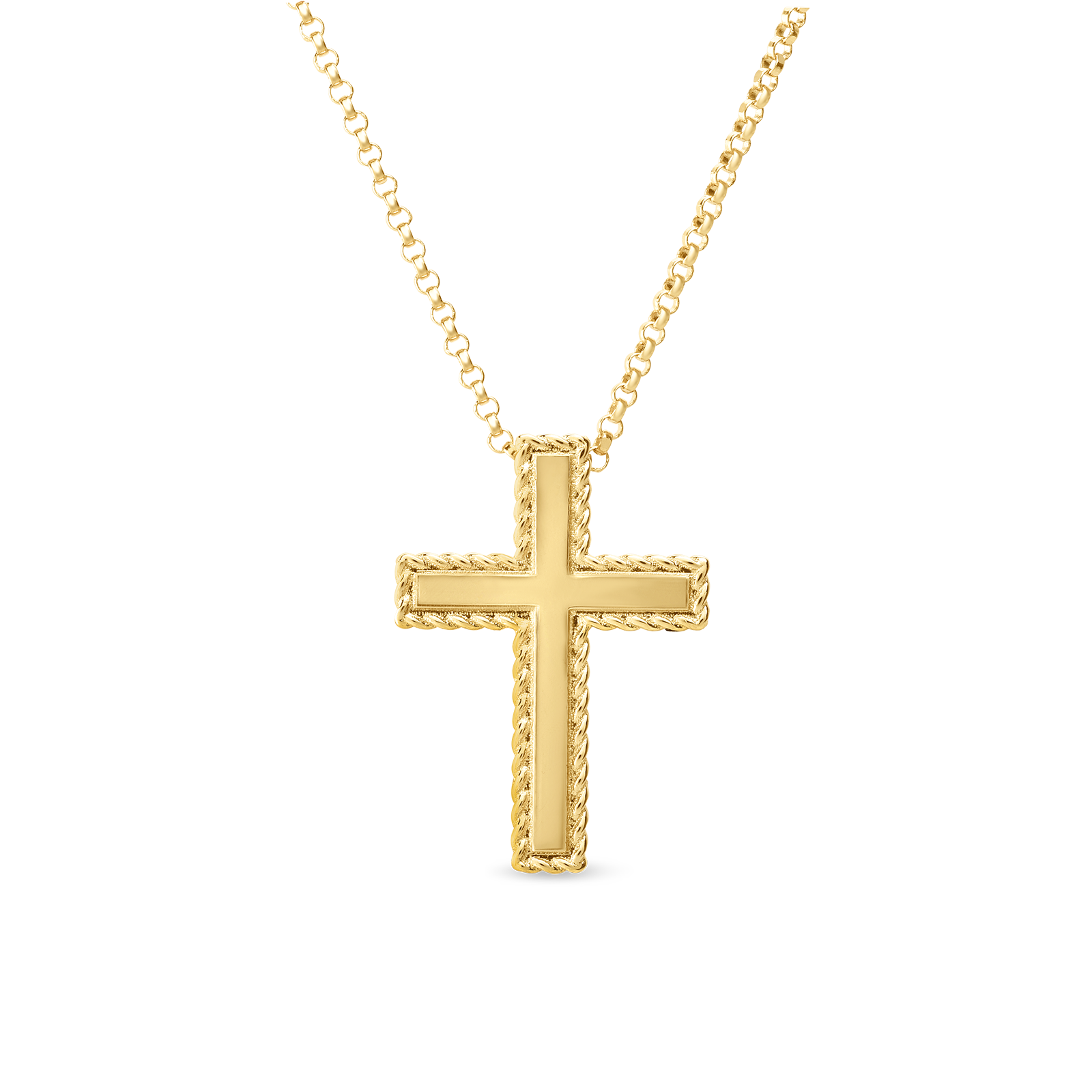 New Barocco Gold Cross Necklace Kcros0919 Ware Jewelers