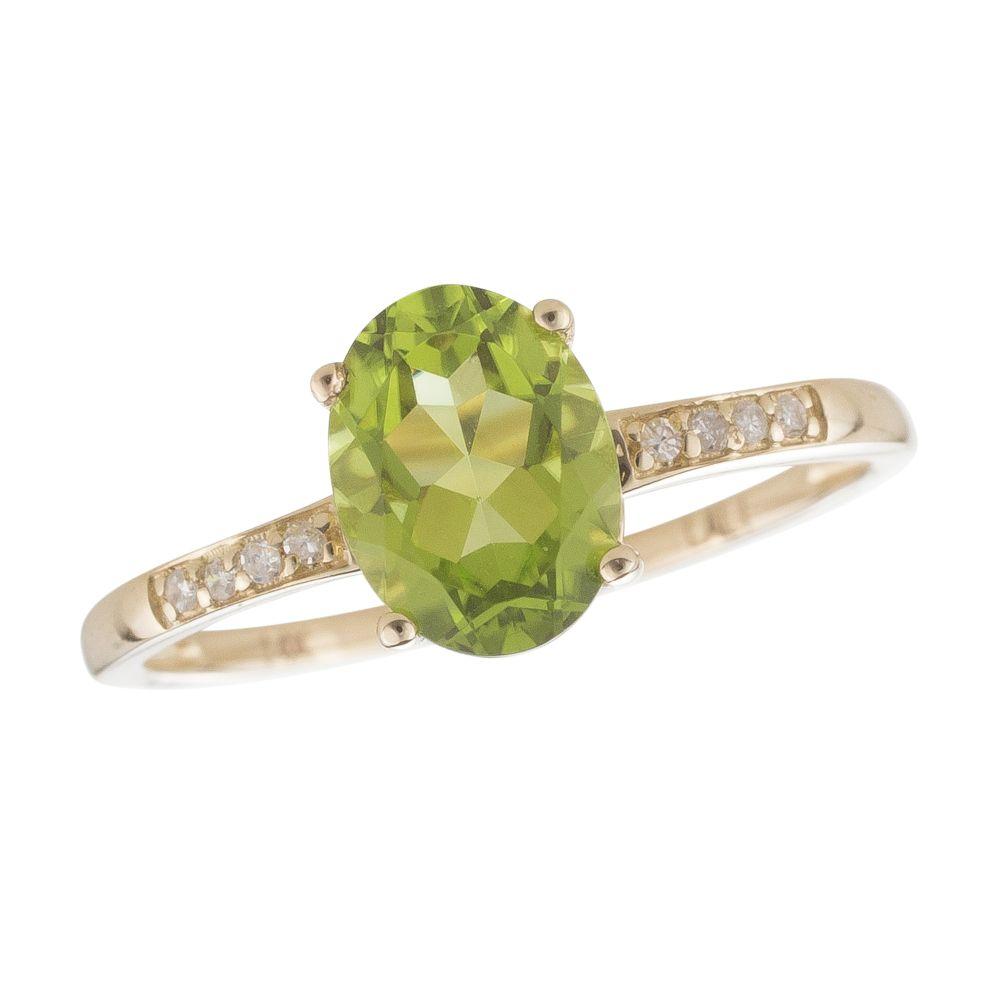 Diamond August Birthstone Ring
