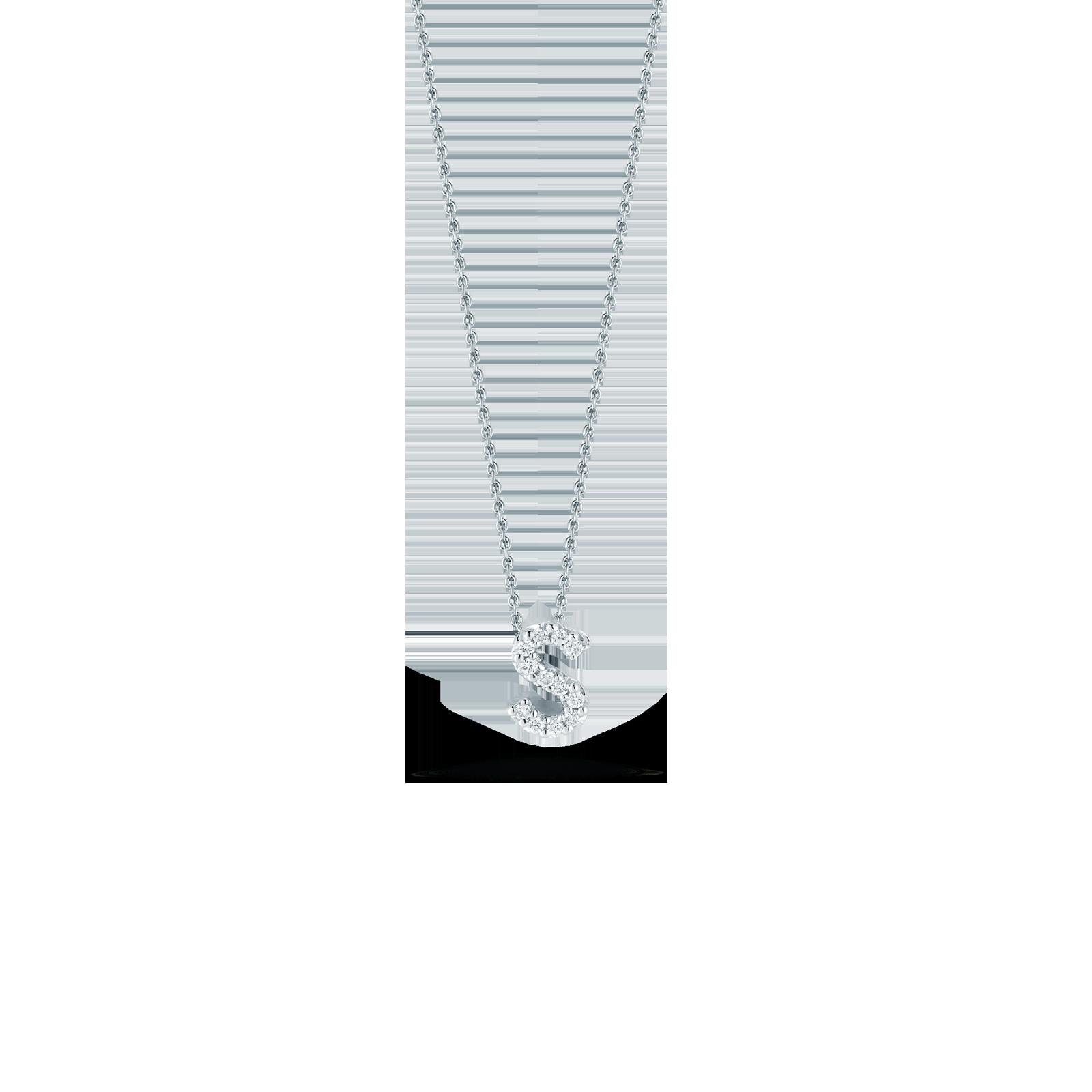 Tiny Treasures Love Letter S Pendant With Diamonds   DP25C0666 | Ware  Jewelers